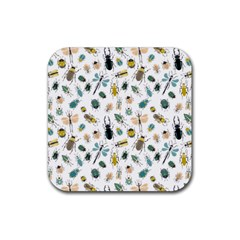 Insect Animal Pattern Rubber Coaster (square)  by BangZart