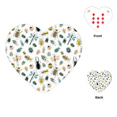 Insect Animal Pattern Playing Cards (heart)  by BangZart