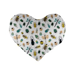 Insect Animal Pattern Standard 16  Premium Heart Shape Cushions by BangZart