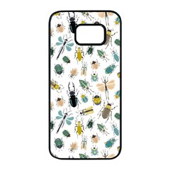 Insect Animal Pattern Samsung Galaxy S7 Edge Black Seamless Case by BangZart