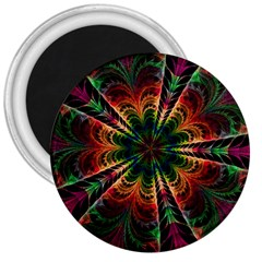 Kaleidoscope Patterns Colors 3  Magnets by BangZart
