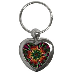 Kaleidoscope Patterns Colors Key Chains (heart)  by BangZart