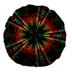 Kaleidoscope Patterns Colors Large 18  Premium Round Cushions