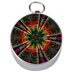 Kaleidoscope Patterns Colors Silver Compasses by BangZart