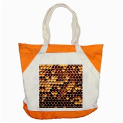 Honey Honeycomb Pattern Accent Tote Bag by BangZart