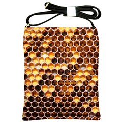 Honey Honeycomb Pattern Shoulder Sling Bags by BangZart