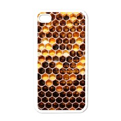 Honey Honeycomb Pattern Apple Iphone 4 Case (white) by BangZart