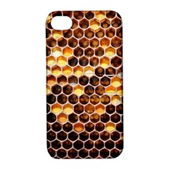 Honey Honeycomb Pattern Apple Iphone 4/4s Hardshell Case With Stand by BangZart