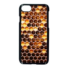 Honey Honeycomb Pattern Apple Iphone 7 Seamless Case (black)