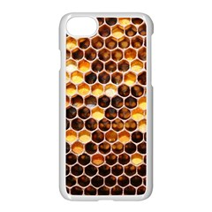 Honey Honeycomb Pattern Apple Iphone 7 Seamless Case (white) by BangZart