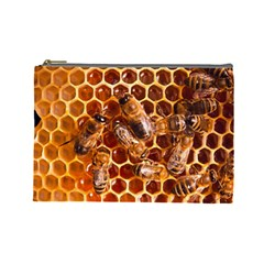 Honey Bees Cosmetic Bag (large)  by BangZart
