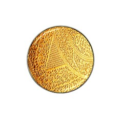 Gold Pattern Hat Clip Ball Marker by BangZart