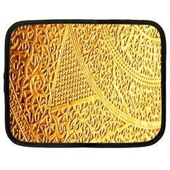 Gold Pattern Netbook Case (large) by BangZart