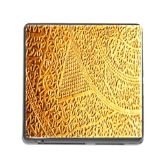 Gold Pattern Memory Card Reader (square)