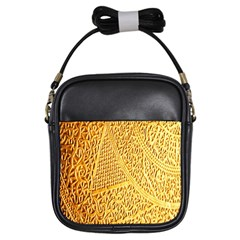 Gold Pattern Girls Sling Bags by BangZart