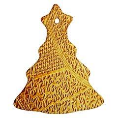 Gold Pattern Ornament (christmas Tree)