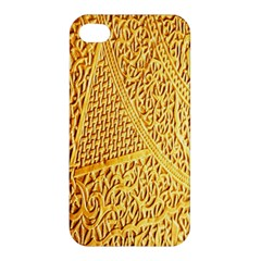 Gold Pattern Apple Iphone 4/4s Premium Hardshell Case by BangZart