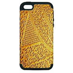 Gold Pattern Apple Iphone 5 Hardshell Case (pc+silicone) by BangZart