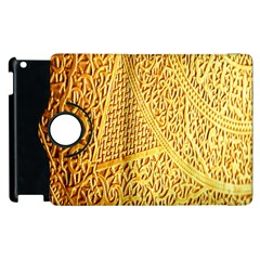 Gold Pattern Apple Ipad 3/4 Flip 360 Case by BangZart