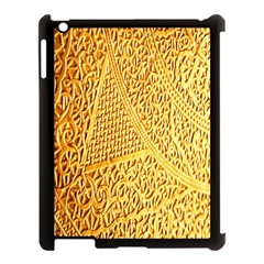 Gold Pattern Apple Ipad 3/4 Case (black)