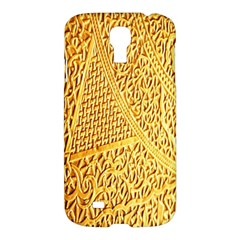 Gold Pattern Samsung Galaxy S4 I9500/i9505 Hardshell Case by BangZart