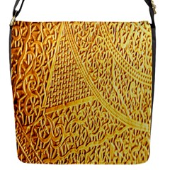 Gold Pattern Flap Messenger Bag (s)