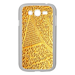 Gold Pattern Samsung Galaxy Grand Duos I9082 Case (white) by BangZart