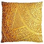 Gold Pattern Standard Flano Cushion Case (Two Sides) Front