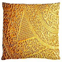 Gold Pattern Large Flano Cushion Case (two Sides) by BangZart