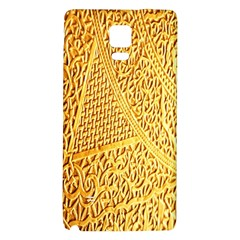 Gold Pattern Galaxy Note 4 Back Case by BangZart