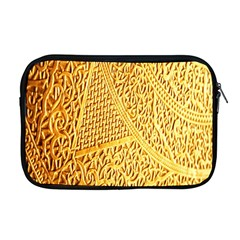 Gold Pattern Apple Macbook Pro 17  Zipper Case