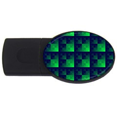 Fractal Usb Flash Drive Oval (2 Gb) by BangZart