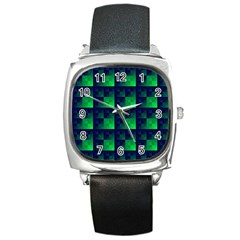 Fractal Square Metal Watch