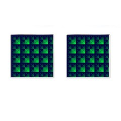 Fractal Cufflinks (square) by BangZart