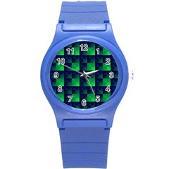 Fractal Round Plastic Sport Watch (s) by BangZart