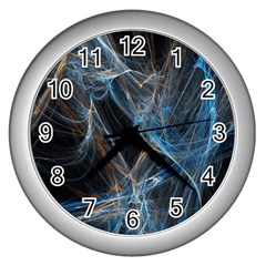 Fractal Tangled Minds Wall Clocks (silver)