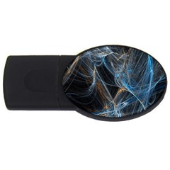 Fractal Tangled Minds Usb Flash Drive Oval (4 Gb) by BangZart