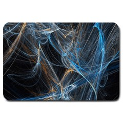 Fractal Tangled Minds Large Doormat  by BangZart