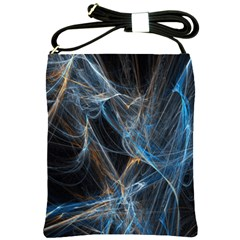 Fractal Tangled Minds Shoulder Sling Bags