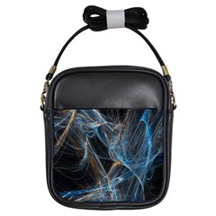 Fractal Tangled Minds Girls Sling Bags by BangZart