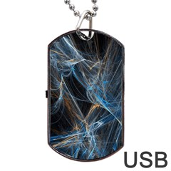 Fractal Tangled Minds Dog Tag Usb Flash (one Side) by BangZart