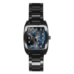 Fractal Tangled Minds Stainless Steel Barrel Watch
