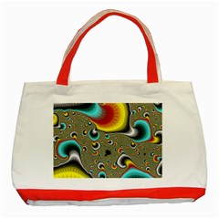 Fractals Random Bluray Classic Tote Bag (red) by BangZart