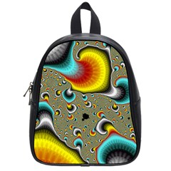 Fractals Random Bluray School Bags (small)  by BangZart