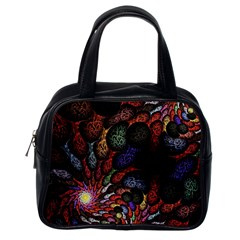 Fractal Swirls Classic Handbags (one Side) by BangZart