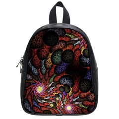 Fractal Swirls School Bags (small)  by BangZart