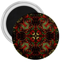 Fractal Kaleidoscope 3  Magnets by BangZart