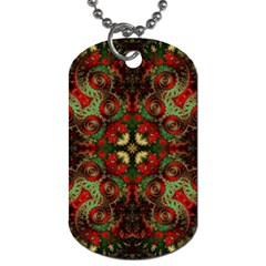 Fractal Kaleidoscope Dog Tag (one Side)