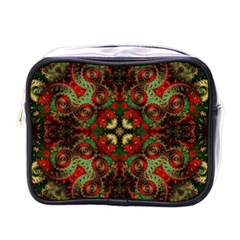 Fractal Kaleidoscope Mini Toiletries Bags by BangZart