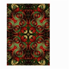 Fractal Kaleidoscope Small Garden Flag (two Sides) by BangZart